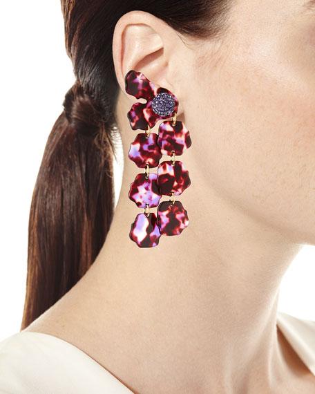 Hand-Swirled Petal Drop Earrings