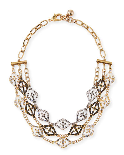 Gloria Crystal Statement Necklace