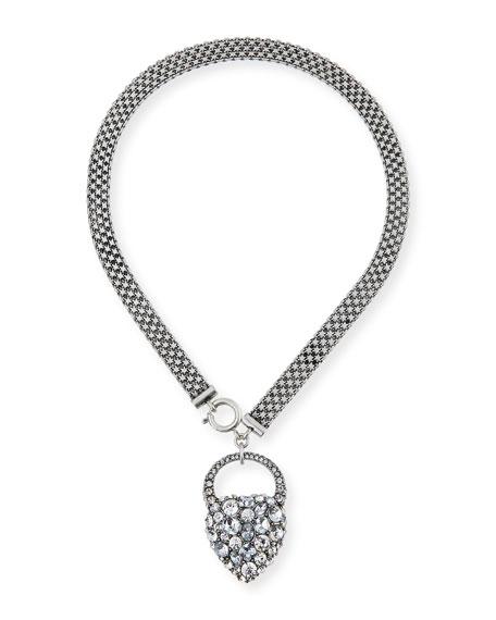 Nina Crystal Heart Lock Necklace