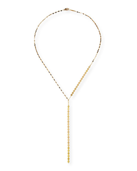 Nude Lariat Disc Necklace
