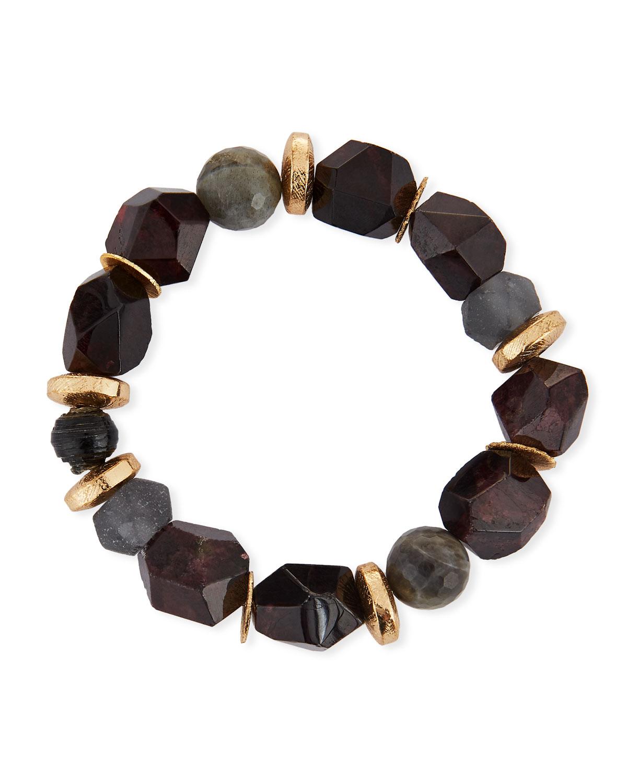 Akola Pica Beaded Garnet Stretch Bracelet ecYt4EM