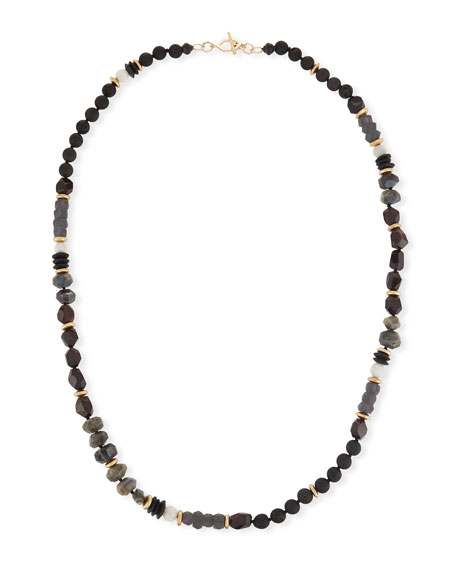 Akola Beaded Moonstone Necklace