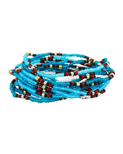 On the Bead Beaded Bracelet  Turquoise Color