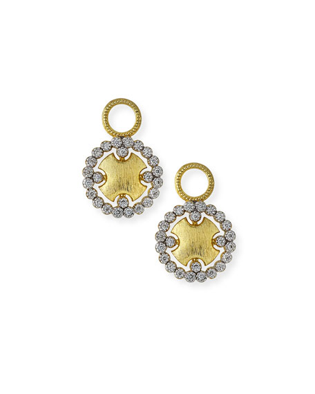 Provence Round Earring Charms with Diamonds