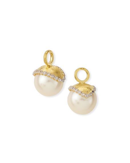 Jude Frances Provence Pearl & Diamond Earring Charms