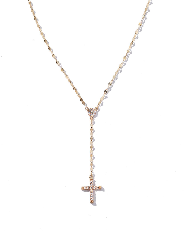 Lana Girl by Lana Jewelry Girls Mini Diamond Crossary Necklace UrxTANyR