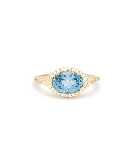 Jamie Wolf Aladdin London Blue Topaz & Diamond Ring in 18K Gold