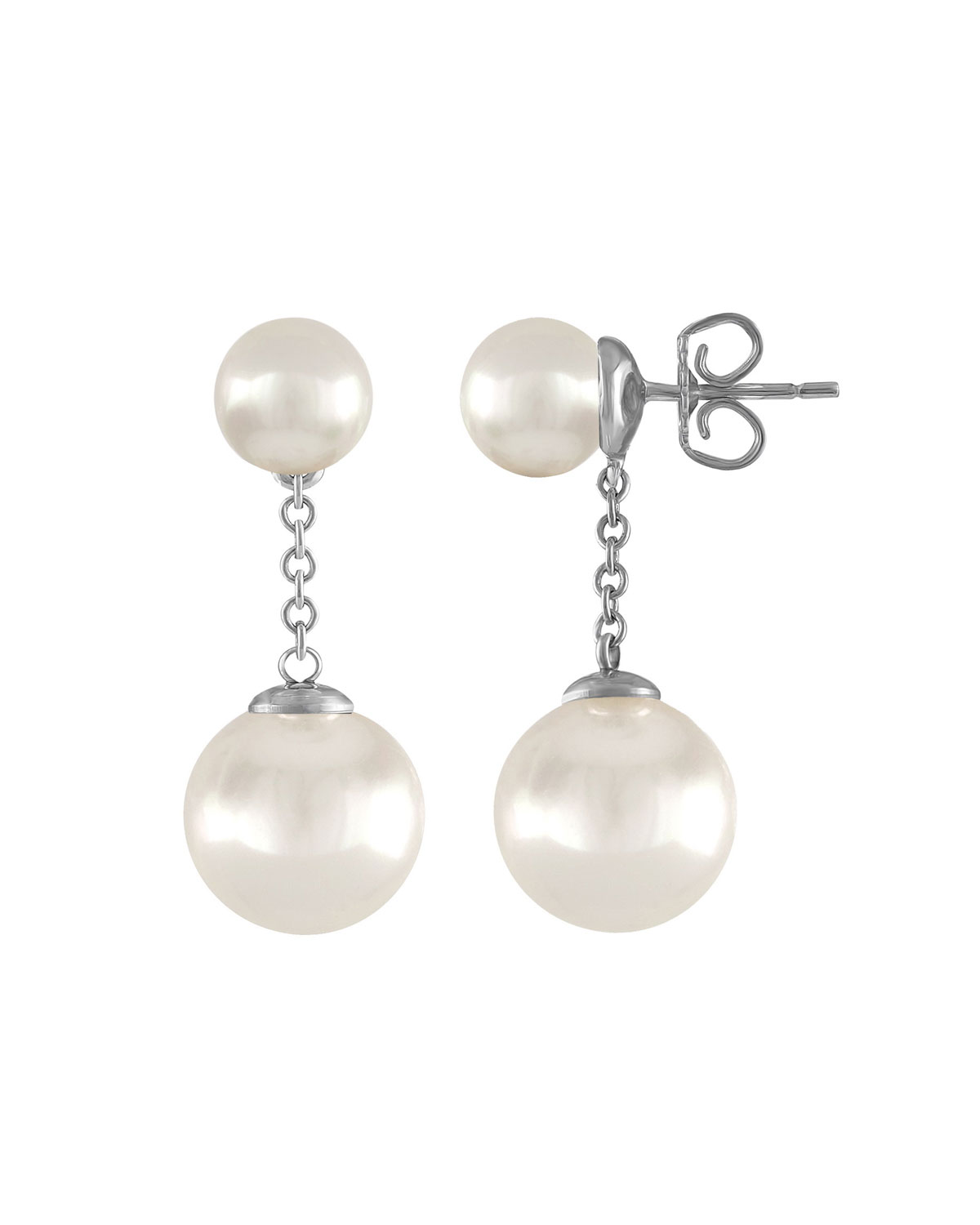 Majorica Simulated Pearl Chain-Drop Earrings