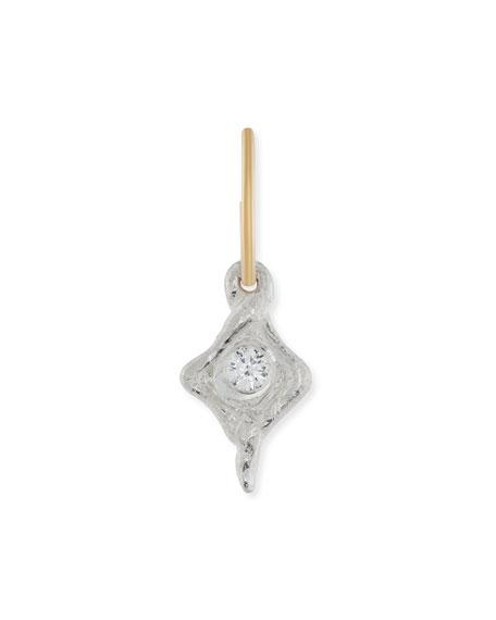 Hummingbird Single Earring with Crystal