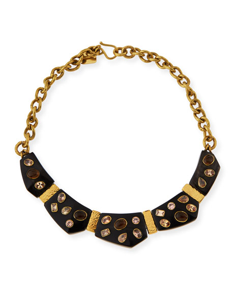 Ashley Pittman Dola Dark Horn Statement Necklace