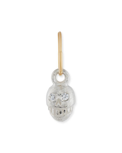 Medium Pirate Single Earring with Crystals
