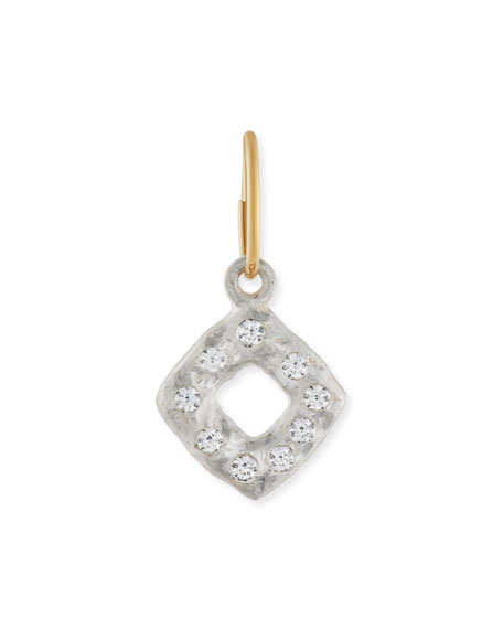 Old Money Square Single Earring with Stones