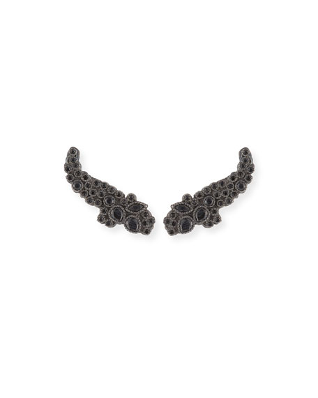 Armenta New World Black Spinel Ear Climbers