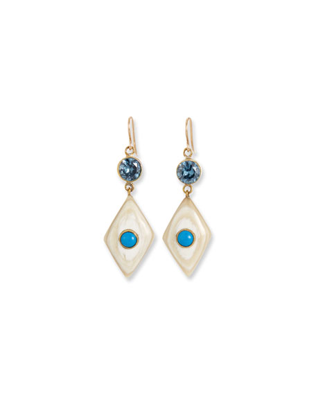 Ashley Pittman Ngome Diamond-Shaped Drop Earrings