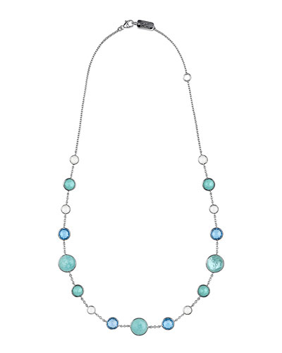 Lollitini Sterling Silver Necklace in Eclipse, 16