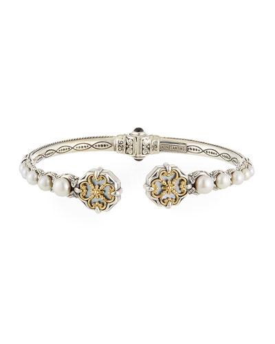 Hestia Pearl Bangle Bracelet