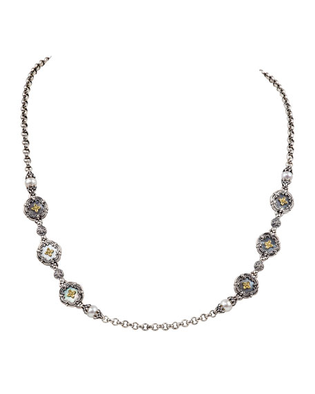 Konstantino Hestia Mother-of-Pearl Station Necklace