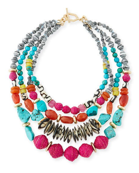 Akola Four-Strand Statement Necklace, 24
