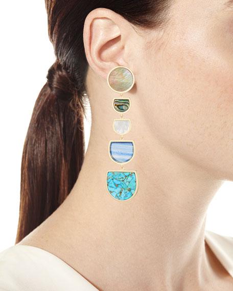 Jackman Stone Tiered Drop Clip-On Earrings