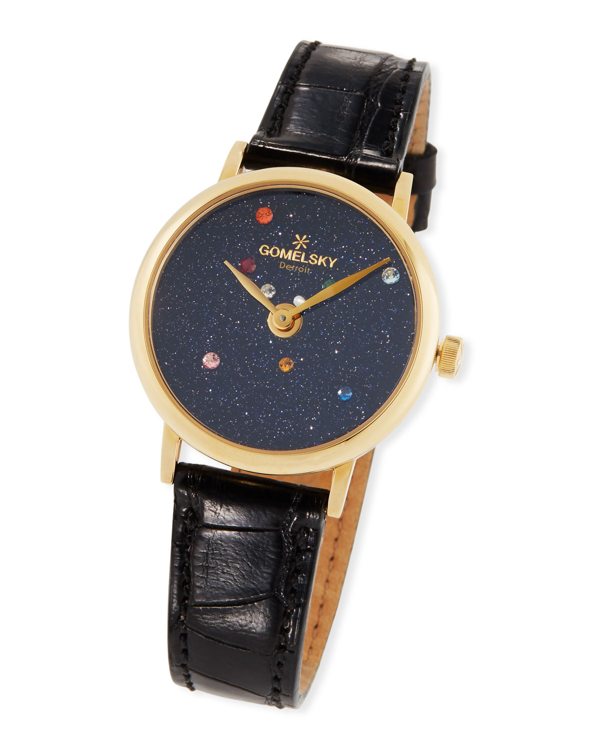 b55d1d545 Gomelsky 32mm Agnes Solar System Watch w/ Alligator Strap | Neiman ...