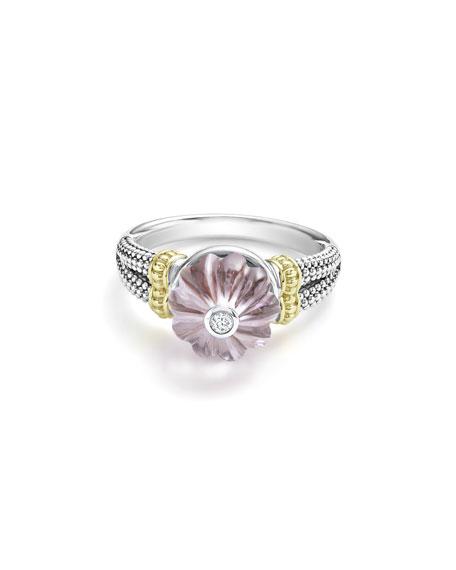 18k Caviar Forever Bead Ring