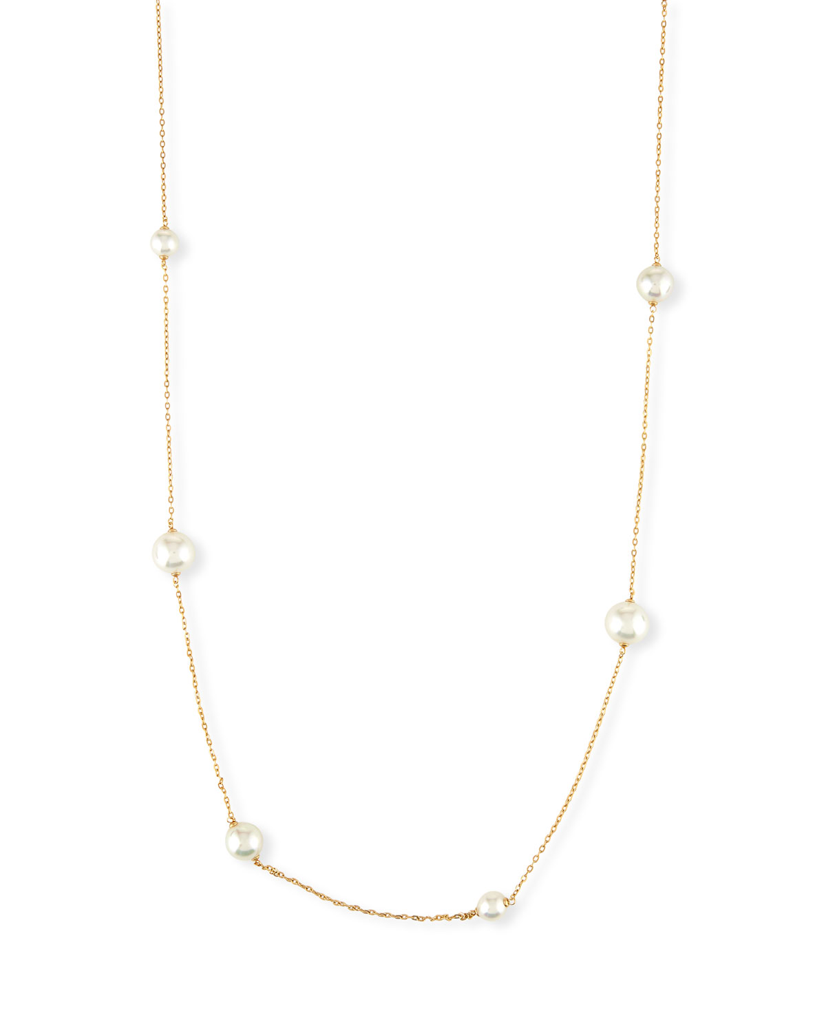 Majorica Long Simulated Pearl Station Necklace iyJwpKP1