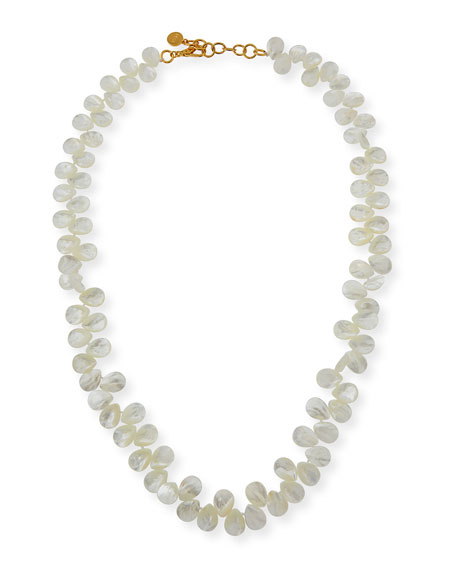 NEST Jewelry Mother-of-Pearl Teardrop Necklace