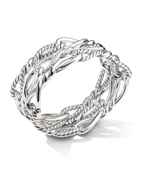 David Yurman Continuance Multi-Row Cuff w/ Diamonds