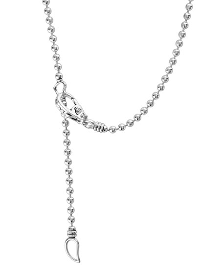LAGOS Caviar Spark Diamond Ball-Chain Necklace, 0.28tcw