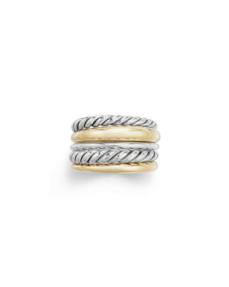 David Yurman Pure Form Wide Ring w/ 18k