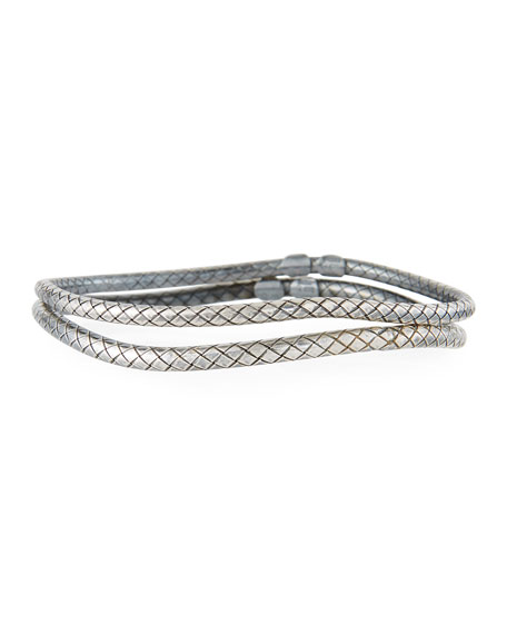 Skinny Bangle Bracelet Pair