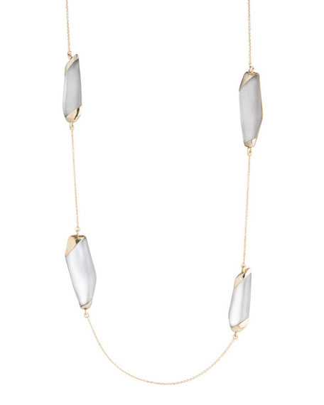 Alexis Bittar Large Lucite?? Station Necklace, 36