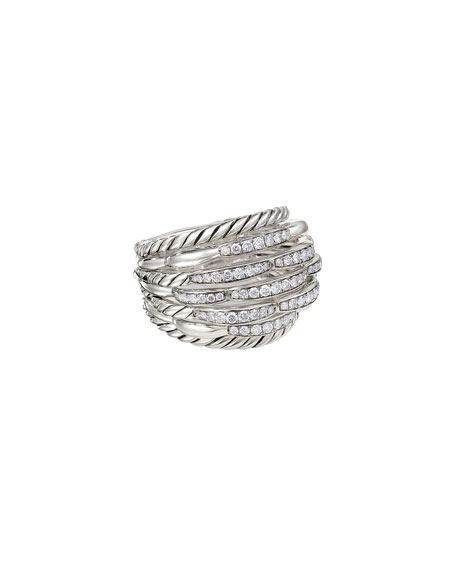 Image 4 of 4: David Yurman Tides Large Dome & Diamond Pave Ring