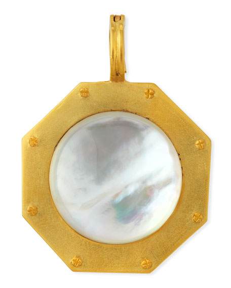 Mother-of-Pearl Nailhead Pendant