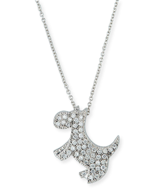 943e787c724 Roberto Coin 18k Diamond Scottie Dog Pendant Necklace Neiman Marcus. Tap To  Expand. Proud Dog Mom Black Diamond Necklace Sterling Silver 173680808 Kay
