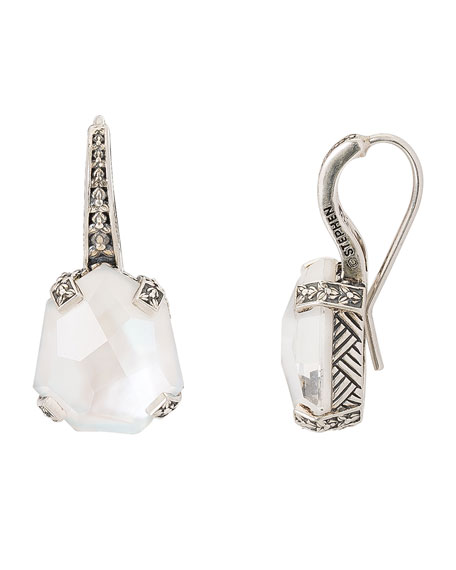 Stephen Dweck Galactical Drop Earrings, White