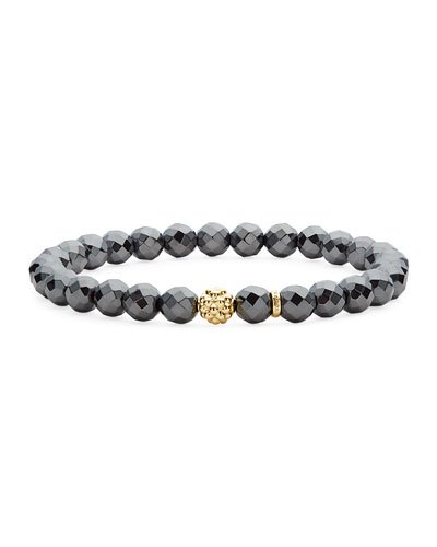 Caviar Icon Beaded Stretch Bracelet