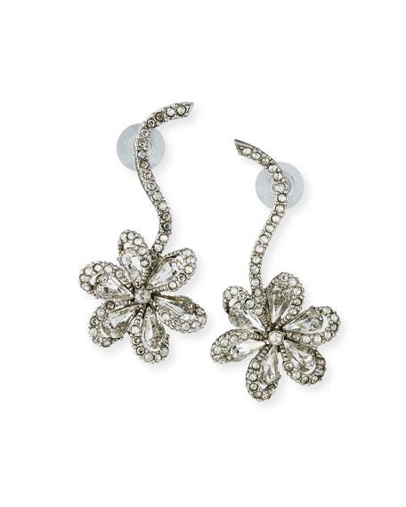 Oscar de la Renta Crystal Delicate Flower Drop