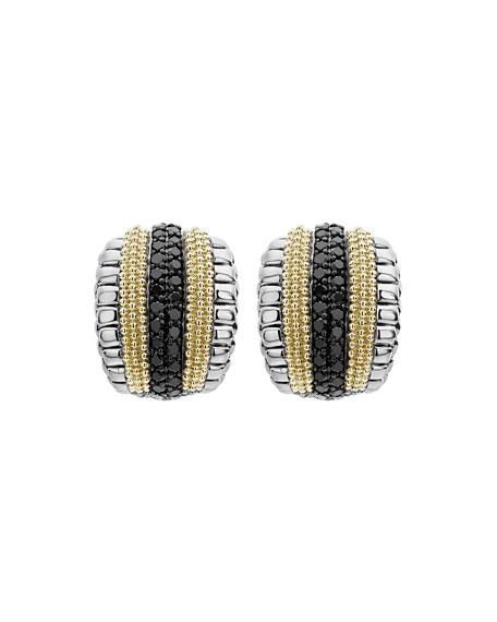 LAGOS Black Diamond Lux Huggie Hoop Earrings