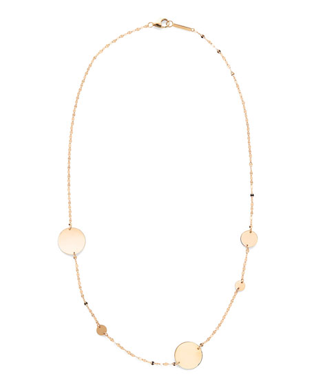 LANA 14k Gold Cleo Disc Necklace