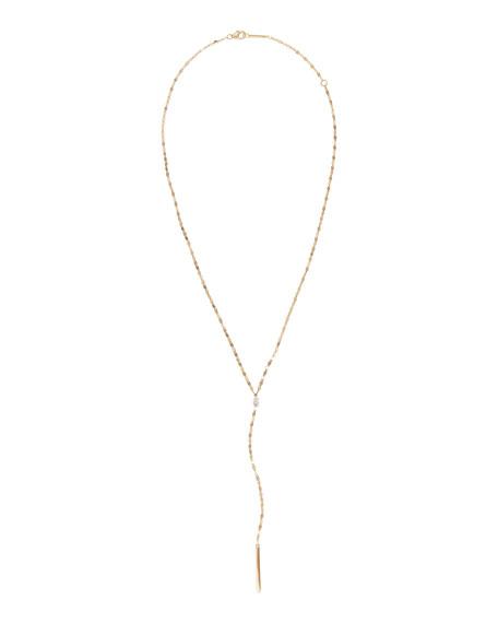LANA 14k Gold Pear Diamond Y-Drop Necklace
