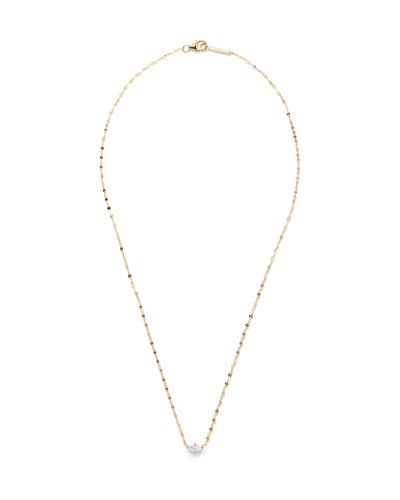 14k Gold Marquise-Cut Diamond Pendant Necklace