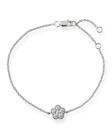 Roberto Coin 18k White Gold Diamond Flower Bracelet