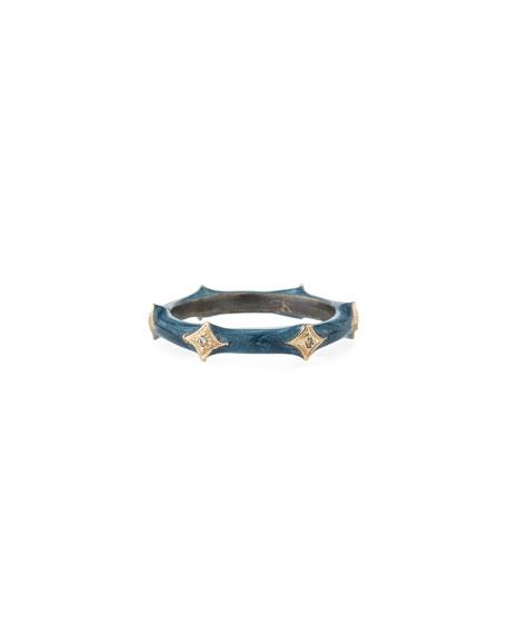 Armenta New World Enamel & Crivelli Band Ring, Size 6.5