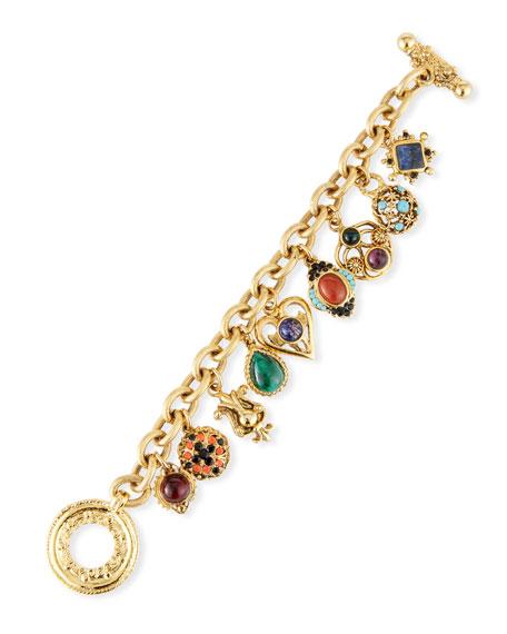 Jose & Maria Barrera Multicolor Charm Bracelet