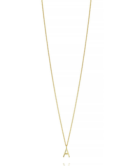 SARAH CHLOE Mini Amelia Initial Pendant Necklace in Gold