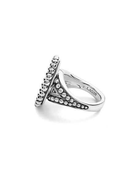 LAGOS Maya Round 16mm Inlay Ring, Turquoise