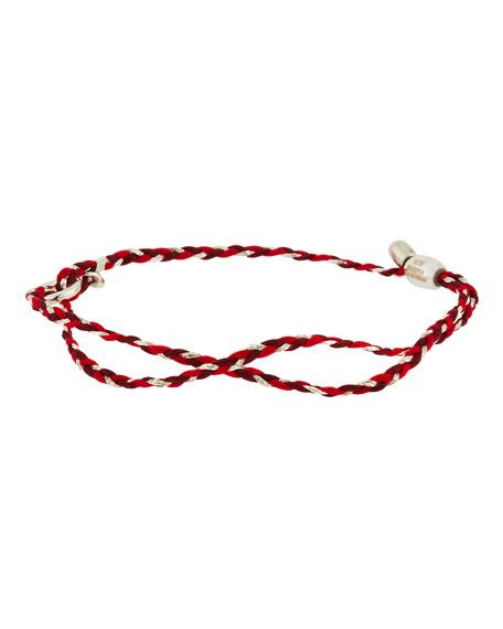 Alex and Ani Precious Threads Bracelet, Sangria/Silver