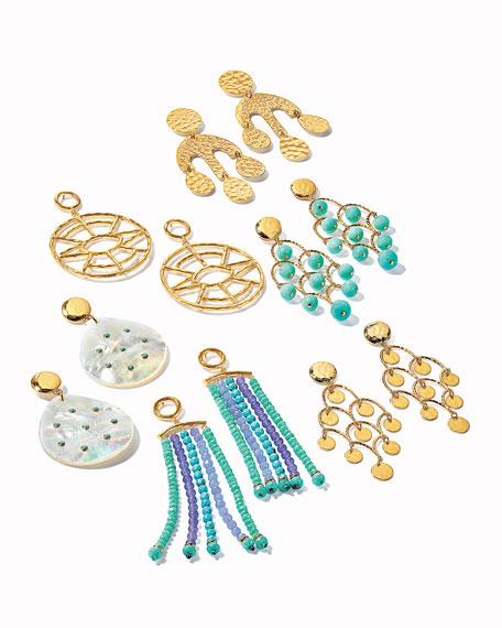 NEST Jewelry Hammered Geometric Statement Earrings