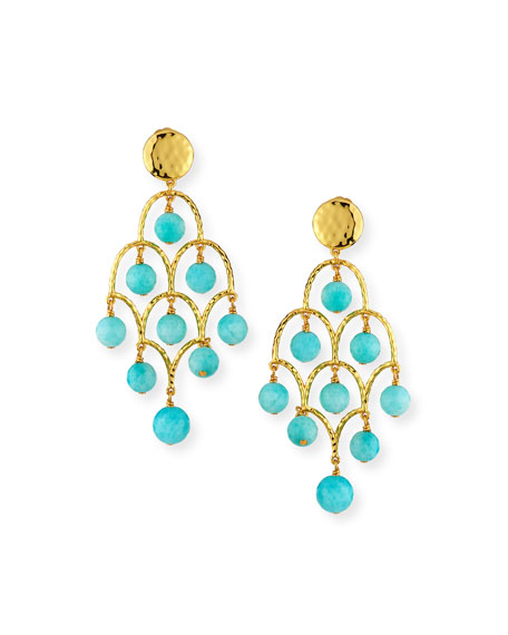 NEST Jewelry Amazonite Chandelier Earrings